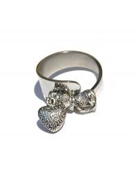 anello sagomato ribattuto con 2 pendenti