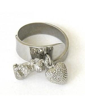 anello sagomato con 2 pendenti