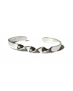 Bracciale acciaio inox con spirale centrale