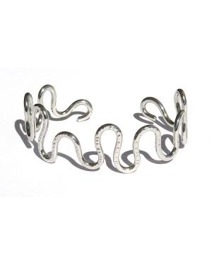 bracciale acciaio inox serpentina piccola