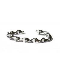 Bracciale acciaio inox a spirale infinita