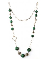 collana malachite ag.925